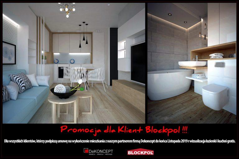 PROMOCJA dla Klientów, którzy podpiszą umowę do końca listopada wizualizacja salonu i łazienki gratis